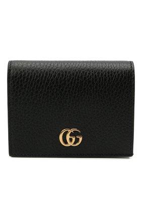Женские кожаный кошелек GUCCI черного цвета, арт. 456126/17WAG | Фото 1