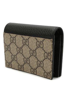 Женские кожаный кошелек GUCCI черного цвета, арт. 456126/17WAG | Фото 2