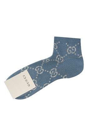 Женские хлопковые носки GUCCI синего цвета, арт. 631451/3GF79 | Фото 1