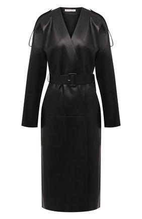 Женское кожаное пальто INES&MARECHAL черного цвета, арт. GLAM0UR CUIR | Фото 1