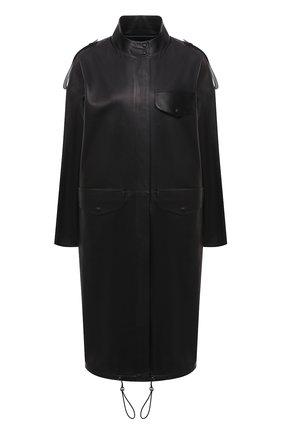Женское кожаное пальто INES&MARECHAL черного цвета, арт. HAN0VRE CUIR | Фото 1