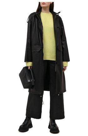 Женское кожаное пальто INES&MARECHAL черного цвета, арт. HAN0VRE CUIR | Фото 2