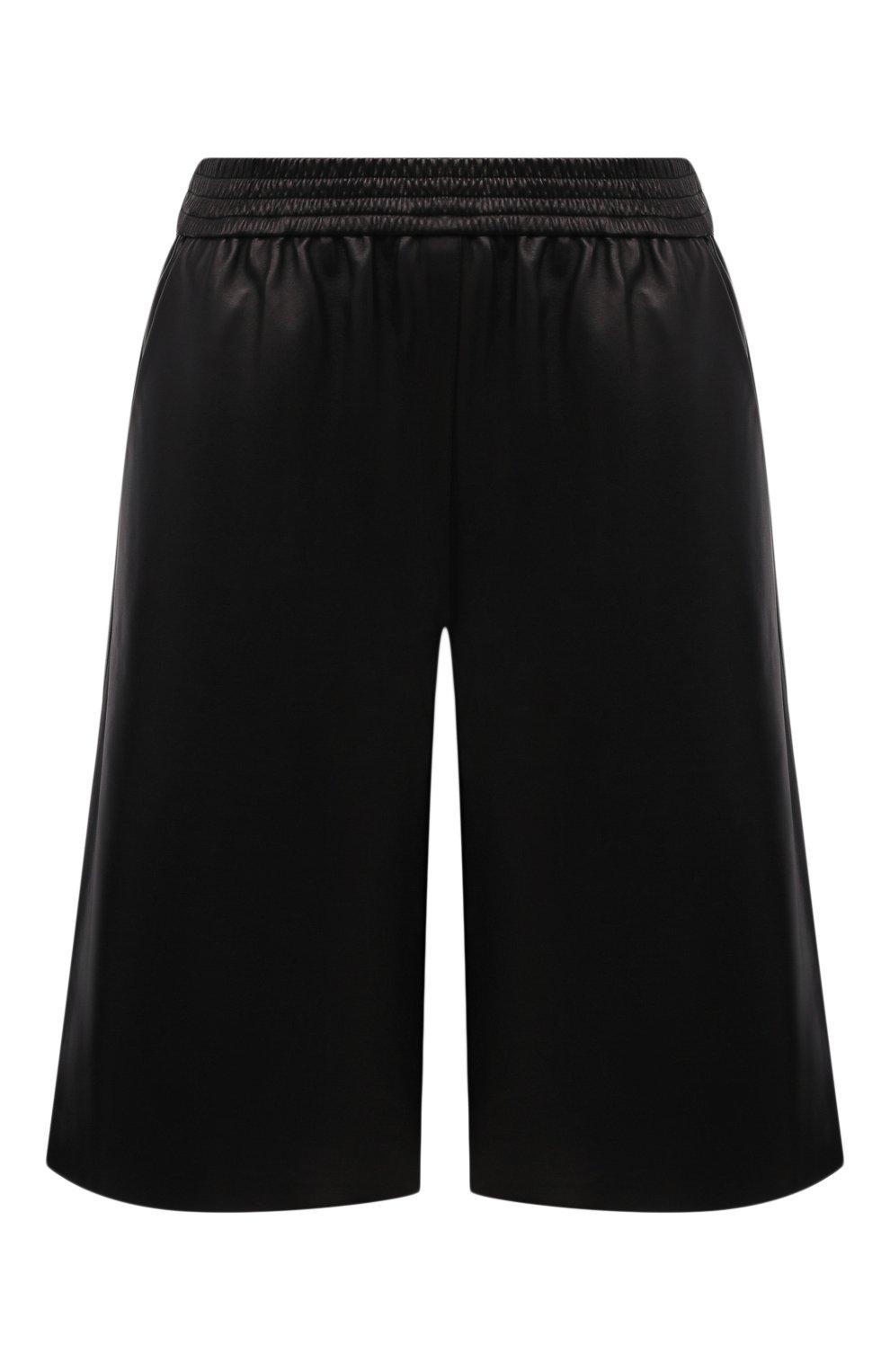 Женские кожаные шорты DROME черного цвета, арт. DPD7034P/D400P   Фото 1