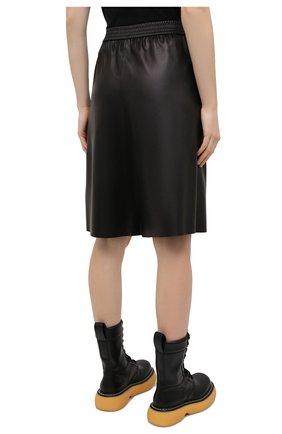 Женские кожаные шорты DROME черного цвета, арт. DPD7034P/D400P   Фото 4