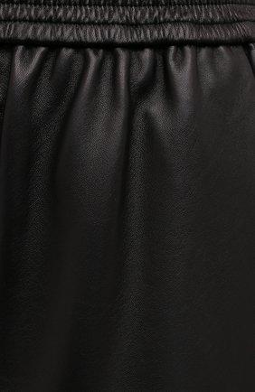 Женские кожаные шорты DROME черного цвета, арт. DPD7034P/D400P   Фото 5