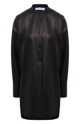 Женская кожаная рубашка DROME черного цвета, арт. DPDA523P/D400P   Фото 1