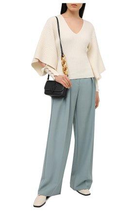 Женский пуловер из шерсти и кашемира LANVIN белого цвета, арт. RW-T0614M-MA06-P21 | Фото 2
