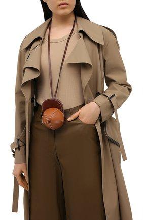 Женская сумка nano cap JW ANDERSON коричневого цвета, арт. HB0232 LA0020 | Фото 2