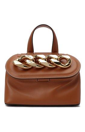 Женская сумка chain lid JW ANDERSON коричневого цвета, арт. HB0317 LA0020 | Фото 1