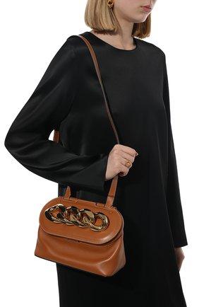 Женская сумка chain lid JW ANDERSON коричневого цвета, арт. HB0317 LA0020 | Фото 2