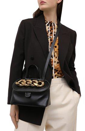 Женская сумка chain lid JW ANDERSON черного цвета, арт. HB0317 LA0020 | Фото 2