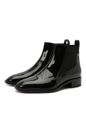 Женские кожаные ботинки marmada CHRISTIAN LOUBOUTIN черного цвета, арт. 3191009/MARMADA FLAT | Фото 1