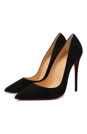 Женские замшевые туфли so kate 120 CHRISTIAN LOUBOUTIN черного цвета, арт. 3130692/S0 KATE 120 | Фото 1