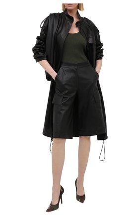 Женские текстильные туфли VETEMENTS хаки цвета, арт. WAH21HE221 2511   Фото 2