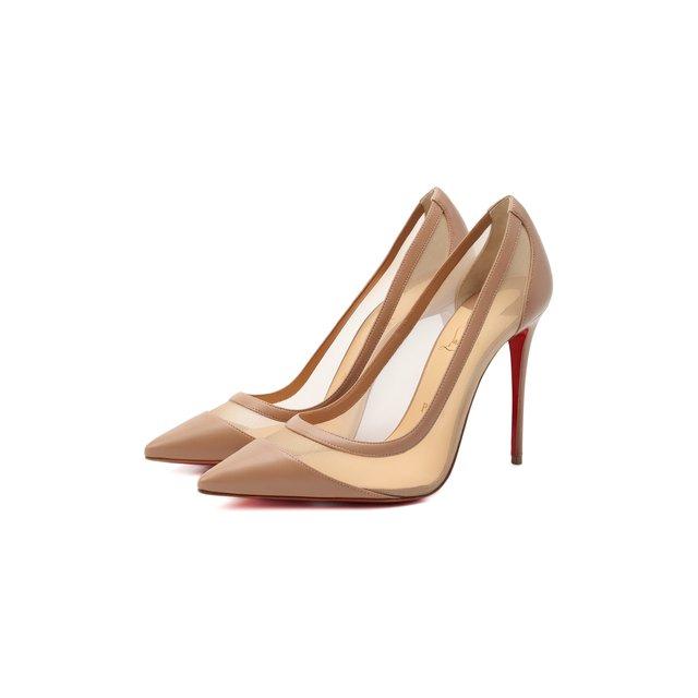 Комбинированные туфли Galativi 100 Christian Louboutin