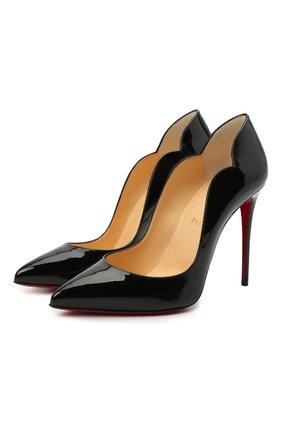 Женские кожаные туфли hot chick 100 CHRISTIAN LOUBOUTIN черного цвета, арт. 1190911/H0T CHICK 100 | Фото 1