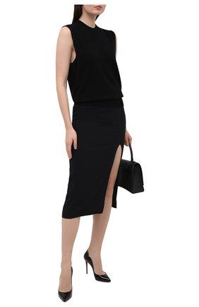 Женские кожаные туфли hot chick 100 CHRISTIAN LOUBOUTIN черного цвета, арт. 1190911/H0T CHICK 100 | Фото 2