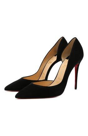 Женские замшевые туфли iriza 100 CHRISTIAN LOUBOUTIN черного цвета, арт. 3130523/IRIZA 100 | Фото 1