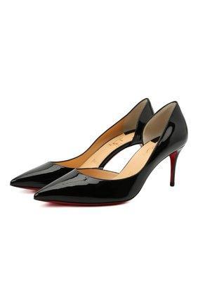 Женские кожаные туфли iriza 70 CHRISTIAN LOUBOUTIN черного цвета, арт. 3160842/IRIZA 70 | Фото 1