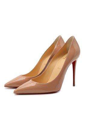 Женские кожаные туфли kate 100 CHRISTIAN LOUBOUTIN бежевого цвета, арт. 3191411/KATE 100 | Фото 1