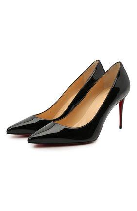 Женские кожаные туфли kate 85 CHRISTIAN LOUBOUTIN черного цвета, арт. 3191416/KATE 85   Фото 1
