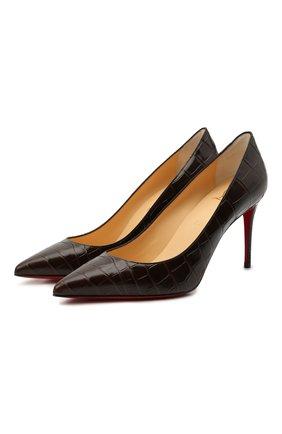 Женские кожаные туфли kate 85 CHRISTIAN LOUBOUTIN коричневого цвета, арт. 3200067/KATE 85   Фото 1