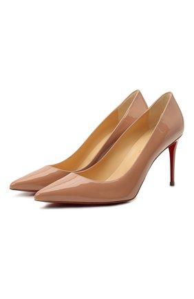 Женские кожаные туфли kate 85 CHRISTIAN LOUBOUTIN бежевого цвета, арт. 3191416/KATE 85 | Фото 1