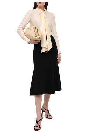 Женские кожаные босоножки selima 85 CHRISTIAN LOUBOUTIN черного цвета, арт. 3200139/SELIMA 85   Фото 2