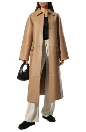 Женские кожаные кеды vieira spikes CHRISTIAN LOUBOUTIN черного цвета, арт. 3191433/VIEIRA SPIKES FLAT | Фото 2