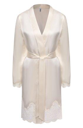 Женский шелковый халат AUBADE белого цвета, арт. MS65 | Фото 1