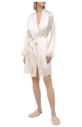 Женский шелковый халат AUBADE белого цвета, арт. MS65 | Фото 2