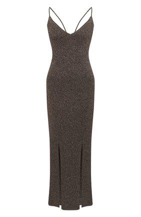 Женское платье из вискозы GANNI коричневого цвета, арт. K1463 | Фото 1