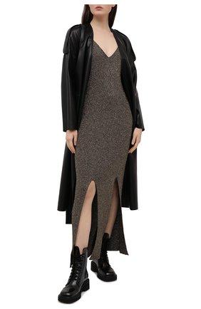 Женское платье из вискозы GANNI коричневого цвета, арт. K1463 | Фото 2