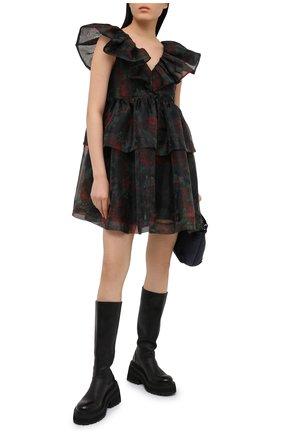 Женское платье GANNI черного цвета, арт. F5695 | Фото 2