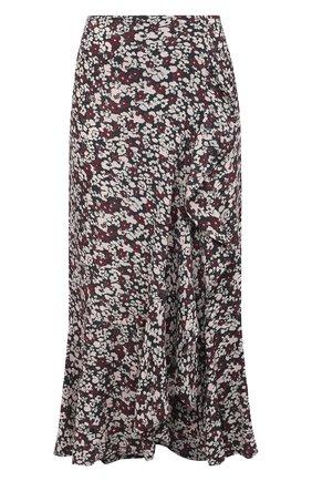 Женская юбка из вискозы GANNI темно-серого цвета, арт. F5415 | Фото 1