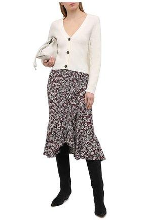 Женская юбка из вискозы GANNI темно-серого цвета, арт. F5415 | Фото 2