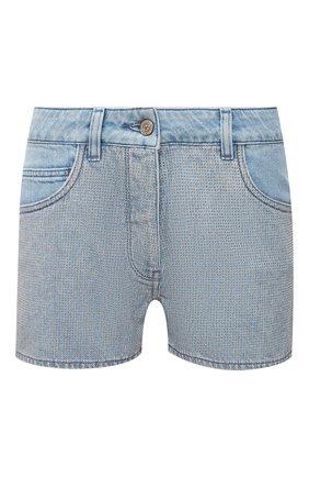 Женские джинсовые шорты GOLDEN GOOSE DELUXE BRAND голубого цвета, арт. GWP00231.P000462 | Фото 1
