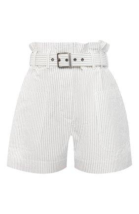 Женские шорты из хлопка и льна BRUNELLO CUCINELLI белого цвета, арт. MF787P7633 | Фото 1