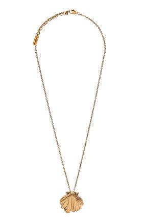 Женская кулон на цепочке SAINT LAURENT коричневого цвета, арт. 646048/Y1500 | Фото 1 (Материал: Металл)