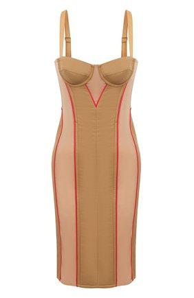 Женское платье BURBERRY бежевого цвета, арт. 8037152 | Фото 1