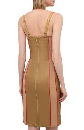Женское платье BURBERRY бежевого цвета, арт. 8037152 | Фото 4