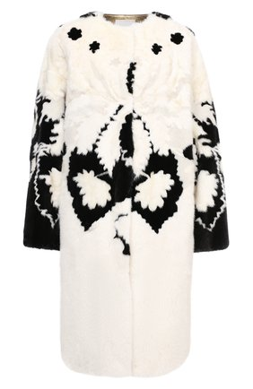 Женская шуба из меха норки VALENTINO черно-белого цвета, арт. VF3FAM421CF | Фото 1