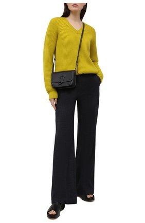 Женские хлопковые брюки WINDSOR темно-синего цвета, арт. 52 DHE513 10011420 | Фото 2