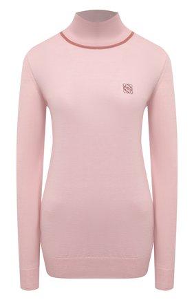Женская кашемировая водолазка LOEWE розового цвета, арт. S817Y14K47 | Фото 1