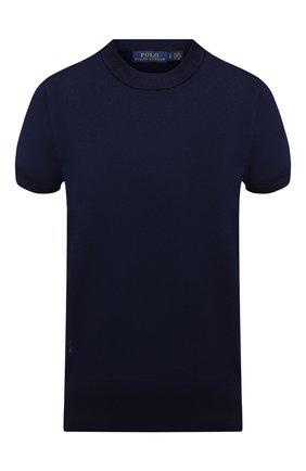 Женский хлопковый пуловер POLO RALPH LAUREN синего цвета, арт. 211784760 | Фото 1