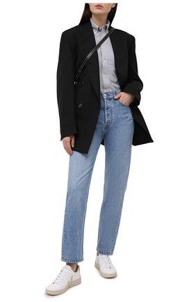 Женская хлопковая рубашка POLO RALPH LAUREN серого цвета, арт. 211664427 | Фото 2