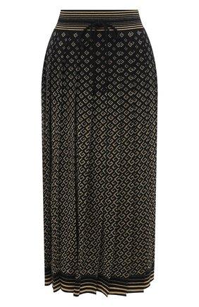 Женская юбка из шерсти и вискозы GUCCI золотого цвета, арт. 650377/XKB0G | Фото 1