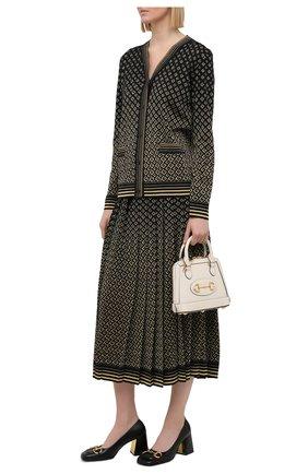 Женская юбка из шерсти и вискозы GUCCI золотого цвета, арт. 650377/XKB0G | Фото 2