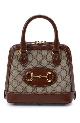 Женская сумка gg 1955 horsebit GUCCI коричневого цвета, арт. 640716/92TCG | Фото 1