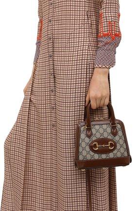 Женская сумка gg 1955 horsebit GUCCI коричневого цвета, арт. 640716/92TCG | Фото 2